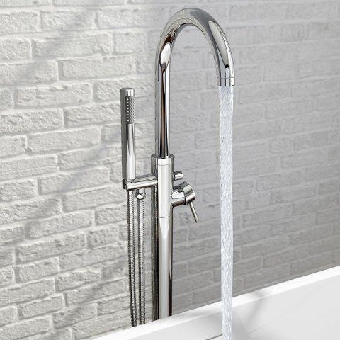 Gladstone II Freestanding Bath Mixer Tap with Hand Held Shower Head