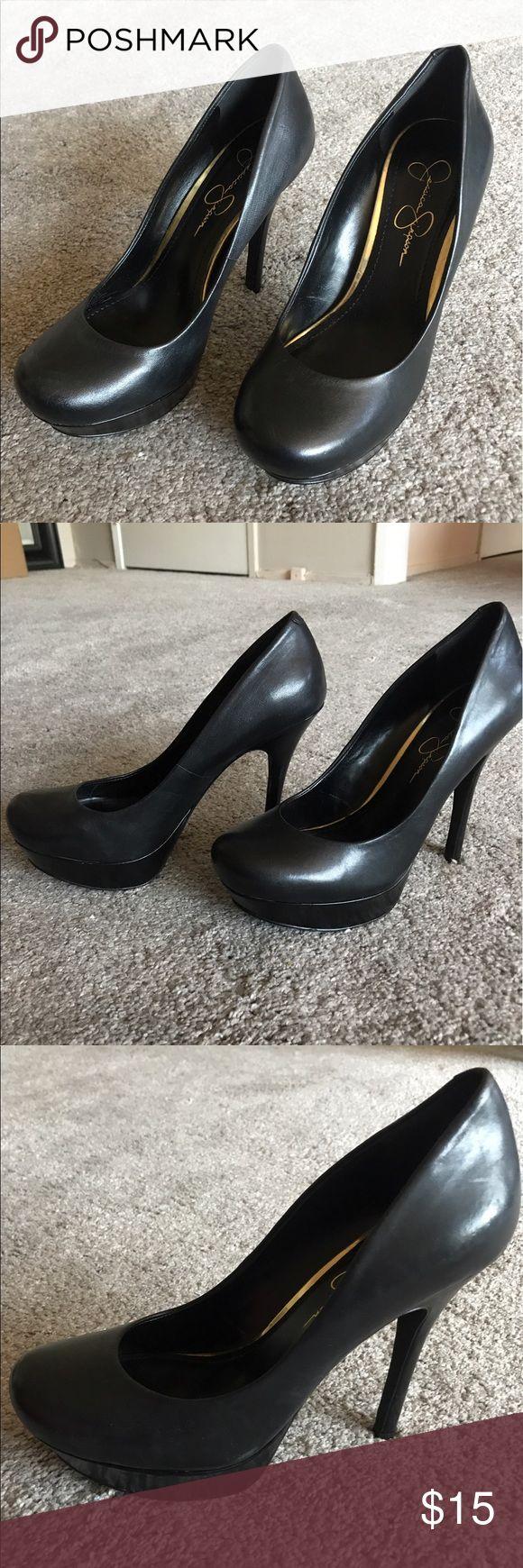 Jessica Simpson Black Pumps Platform pump, rounded toe. Worn outside once. Jessica Simpson Shoes Heels