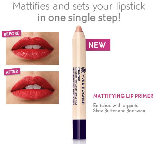 NEW Yves Rocher Mattifying Lip Primer (and It's on Sale)