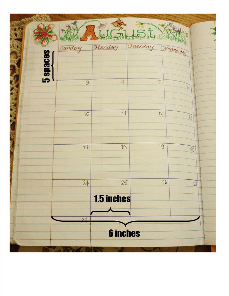 Diy Handmade Calendar : Best homemade planner ideas on pinterest daily
