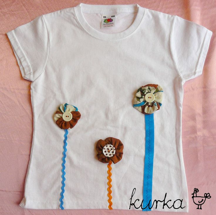 koszulka handmade by kurka - turkus brąz