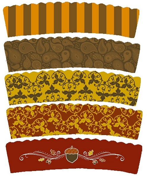Thanksgiving cupcake wrappers-free printable