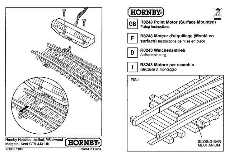 hornby point motor installation instructions