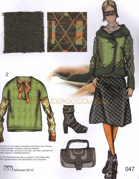 Книга : Fashion box Womwen`s .. очень много интересных моделей (машинное вязание)
