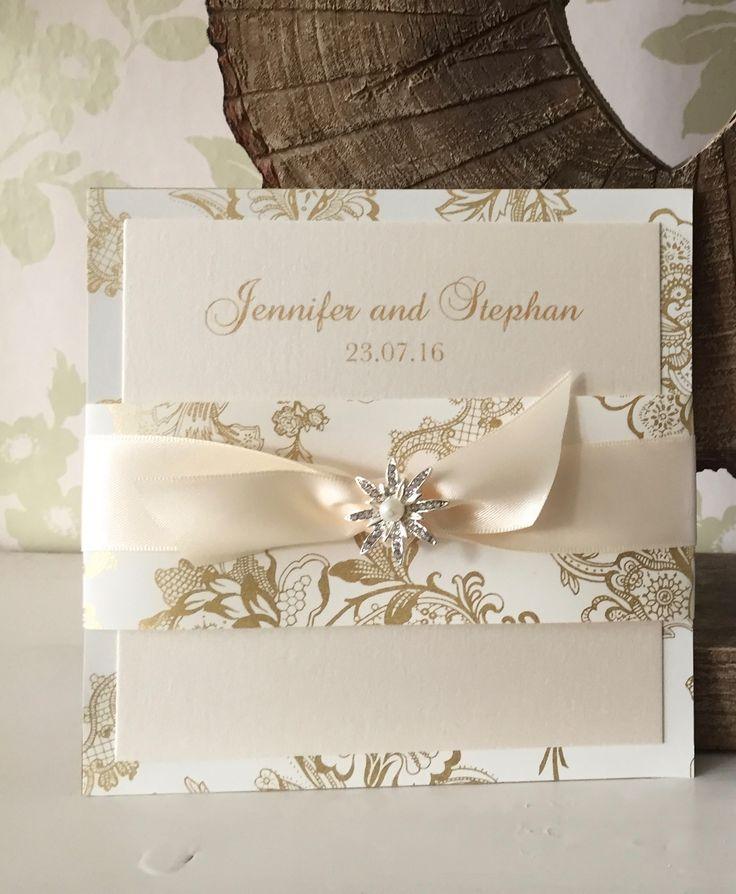 Gold Splendour Luxury Wedding Invitation