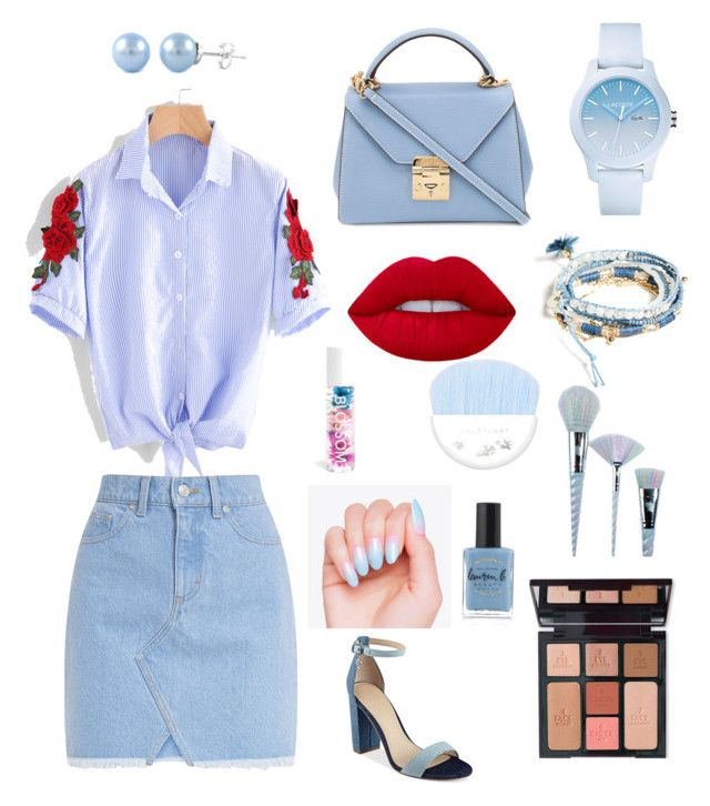 """Street style 2"" by yoshicarla2068 on Polyvore featuring GUESS, Mark Cross, Lacoste, Charlotte Tilbury, Unicorn Lashes, Lauren B. Beauty and Blossom"