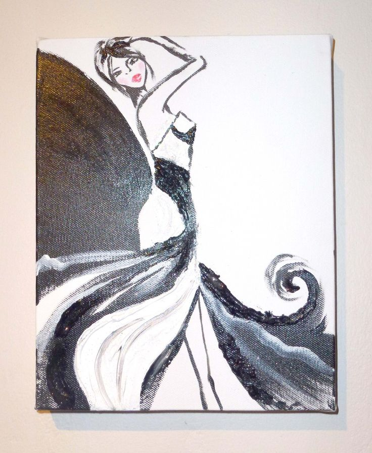 Shadow Samba Acrylic on Canvas 8″ x 10″