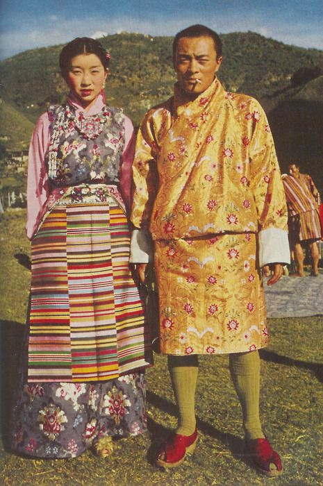 Prince of Bhutan and his bride, 1952World Cultures, Costumes, Brides 1952, Bhutan, National Geographic, 1952 Image, 1952 The Prince, 1952 Prince, Vintage National