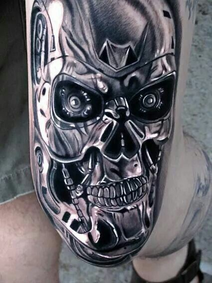 152 best poetry in ink images on pinterest tattoo for Terminator face tattoo