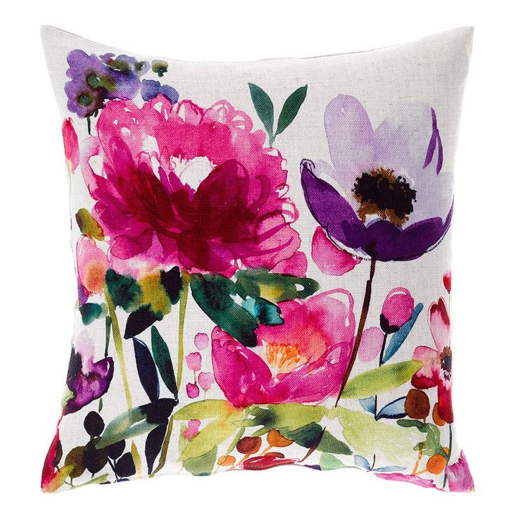 Bluebellgray Floral Anemone Linen Cushion | Houseology