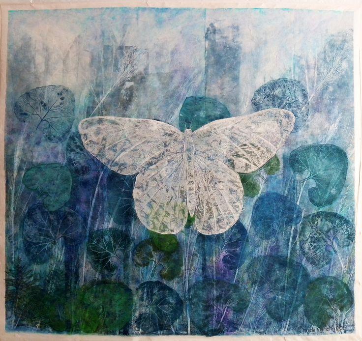 Farfalla nel blu by Daniela Carletti
