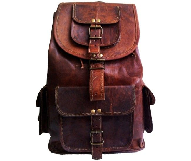 """PLH8a VINTAGE RITA™ Leather backpack. Handmade 18"""""""