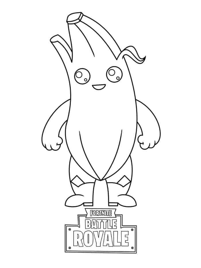Halloween Coloring Pages Halloweencoloringpages Fortnite Peely Skin Coloring Pages From Fortni In 2020 Animal Coloring Pages Fall Coloring Pages Pikachu Coloring Page