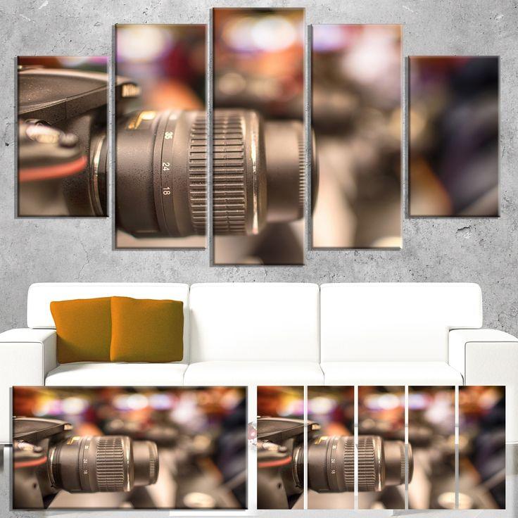 Designart 'Modern Camera in City Electronics Shop' Modern Canvas Wall Art Print