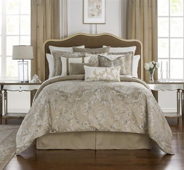 17 best majestic damask jacquard luxury bedding images on pinterest luxury bed linens luxury for Designer linens and home fashions
