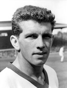 Manchester United winger Johnny Giles
