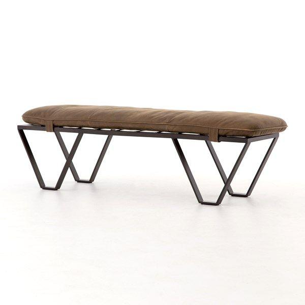"Living Room | Darrow 60"" Bench-Umber Grey"