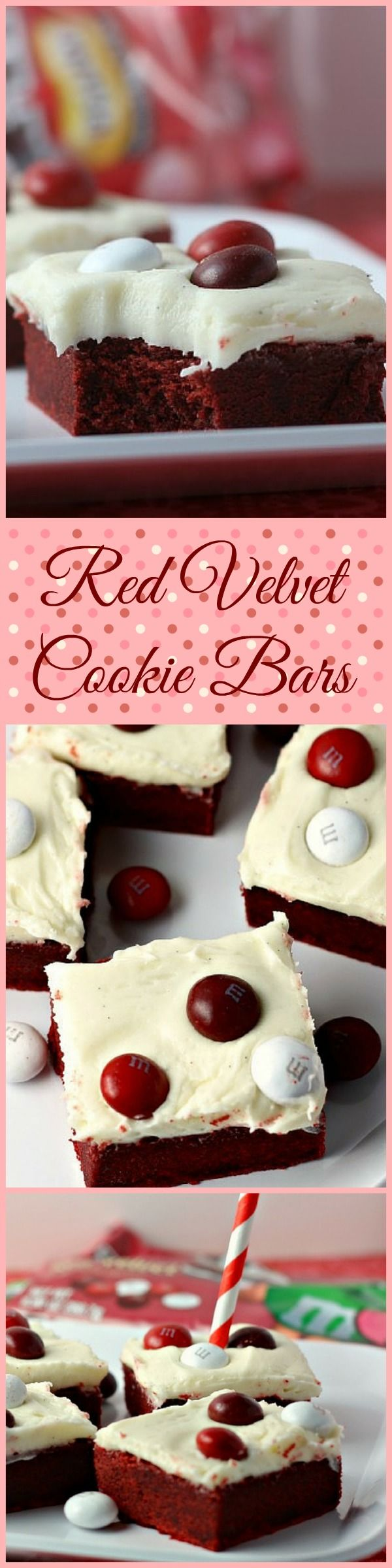 Red Velvet Cookie Bars with Cream Cheese Frosting | Renee's Kitchen Adventures: OMG...one great cookie bar!   #RedVelvetLove #ad #cbias