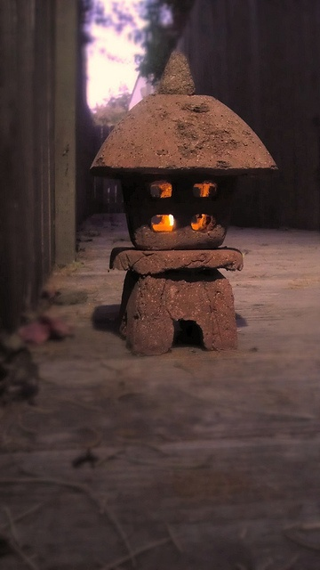 hypertufa lantern, Japan