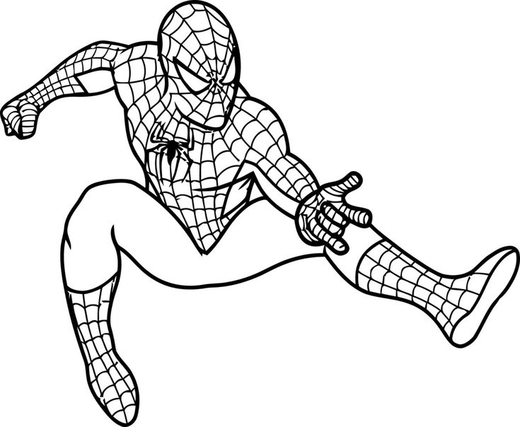 Super Powers Of Spiderman Shoots His Web Coloring Pages