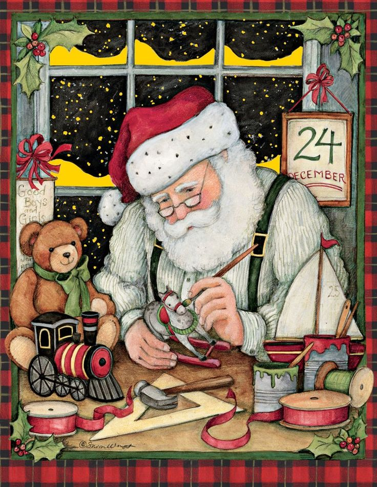 Santa Atölyesi Kutulu Noel Kart, 1004729 | Lang