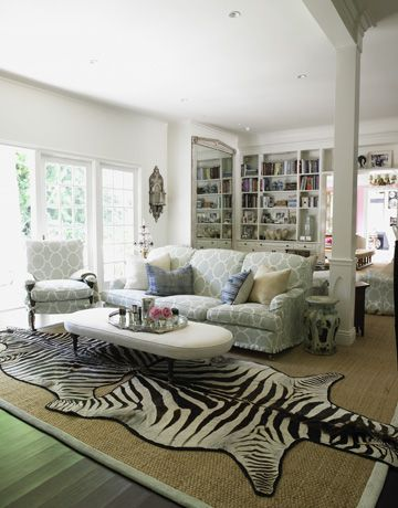 Family Room: Windsor Smith, Living Rooms, Make A Rooms, Area Rugs, Interiors Design, Zebras Rugs, White Rooms, White Interiors, Families Rooms