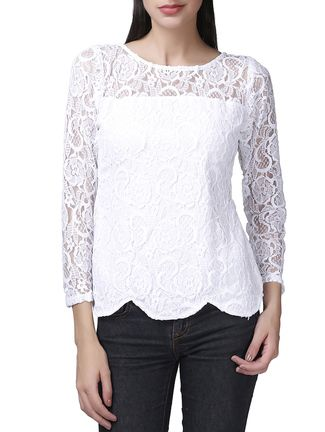 Buy Garrb white rayon top Online, , LimeRoad