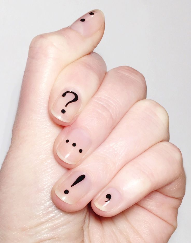 "iheartnails-blog: "" Punctuation nails! """