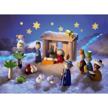 Haba - Christmas Nativity Scene Large. I have been teaching my four year old about how Christmas is Jesus's birthday. This is the sweetest nativity scene I have come across and would be a fun hands on way to get her thinking about it.    #Entropywishlist #Pintowin