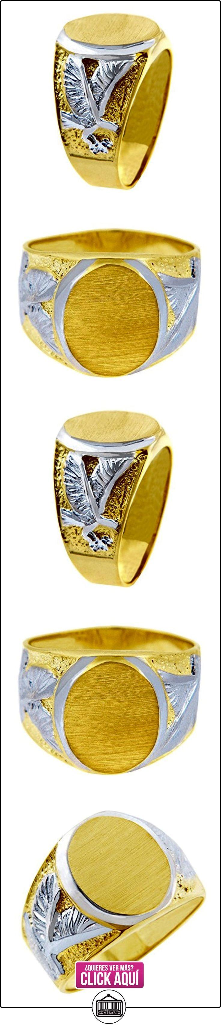 Pequeños Tesoros - Anillos Hombres Alianza De Boda 10 Kt Oro 471/1000 Sortija De Sello - Blanco Águila 2 Colores Oro  ✿ Joyas para hombres especiales - lujo ✿ ▬► Ver oferta: http://comprar.io/goto/B012781YS4