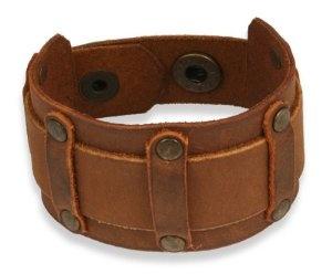 men's leather gothic cuff