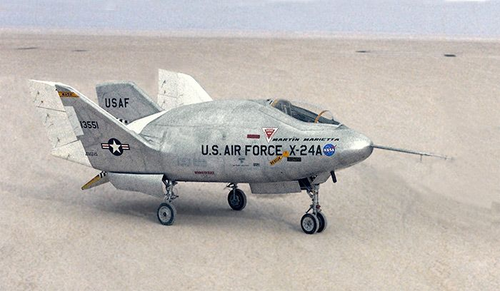 Martin Marietta X-24B lifting-body experimental test vehicle (USAF/NASA)