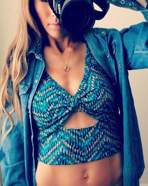 DIY Clothes DIY Refashion DIY Trash To Couture DIY cutout top from tank