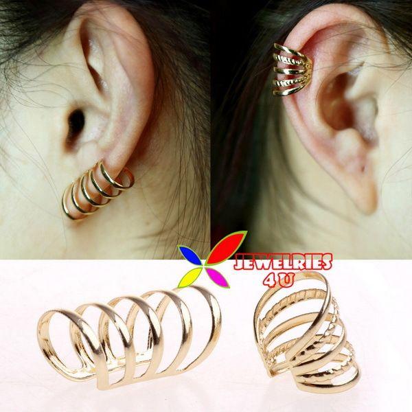 Хиты 2014 продажа мода женская популярные позолоченные полый металлический уха манжеты не пронзили 2 конструкций прямая поставка бесплатная