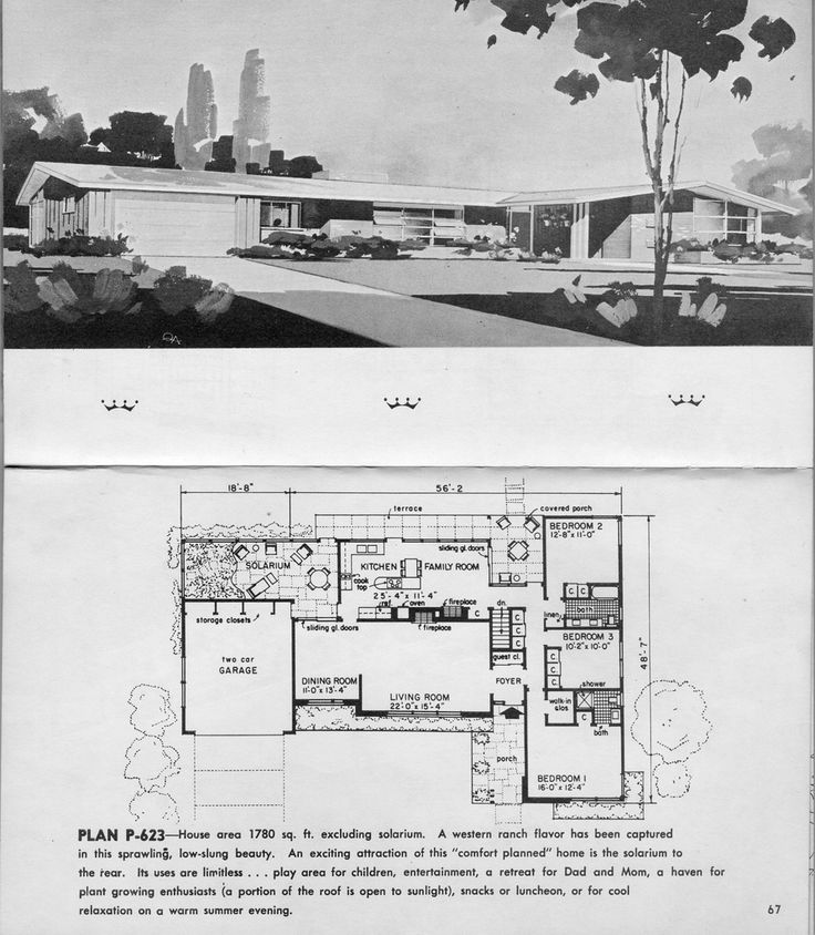 17 best images about atomic ranch on pinterest mid for Atomic ranch floor plans