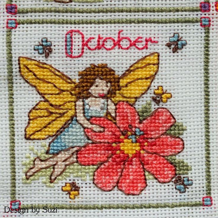Lesley Teare - Birthday Fairies (Calendar 2015) - October