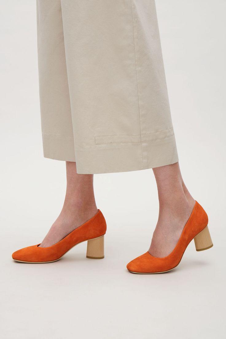 COS image 4 of Square-toe pumps in Vibrant Orange