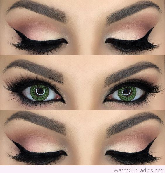 Hey black thick cat eye with dark black (too bad they're fake) lashes and a subtle warm smokey eye