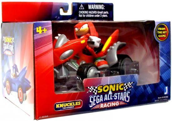 Sonic The Hedgehog Sega All-Stars Racing Knuckles with Land Breaker ATV Figure Vehicle