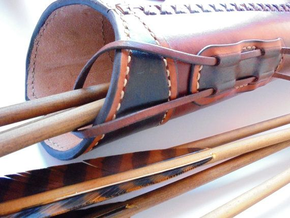Dragon Classic Leather Quiver Archery Quiver by HiPestudio11