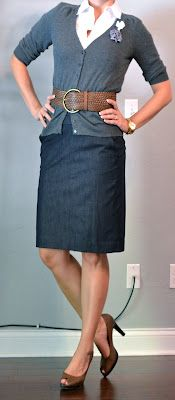 Dressy Denim Skirt