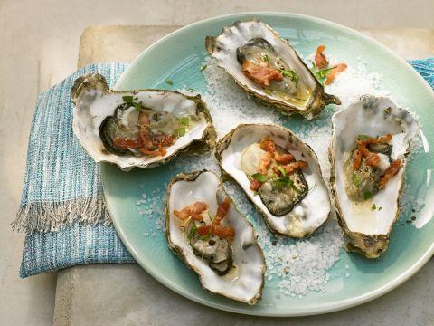 Gegrilde oesters met spekjes -                         Libelle Lekker