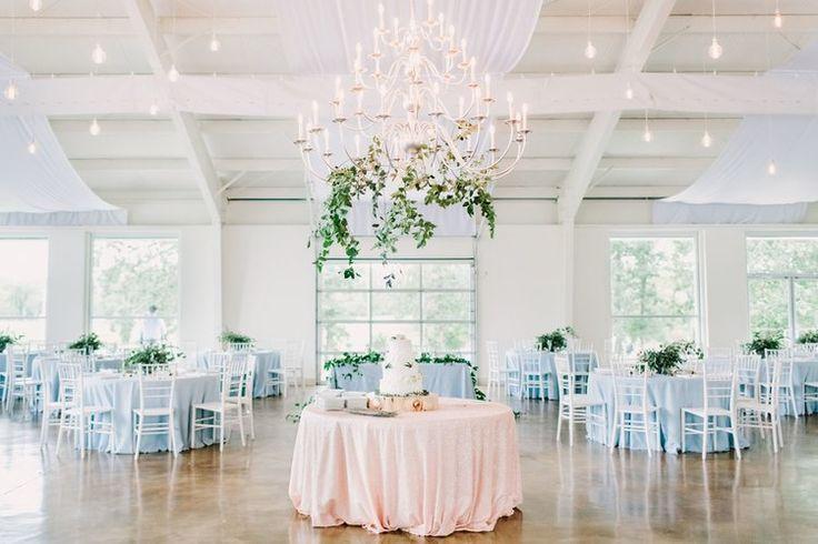 Jessica Zimmerman | ZIMMERMAN Events | Weddings by Christopher and Nancy | Greenery filled Fall Wedding | zimmermanevents.com #southernwedding #outdoorceremony #greeneryarrangement #lightblue