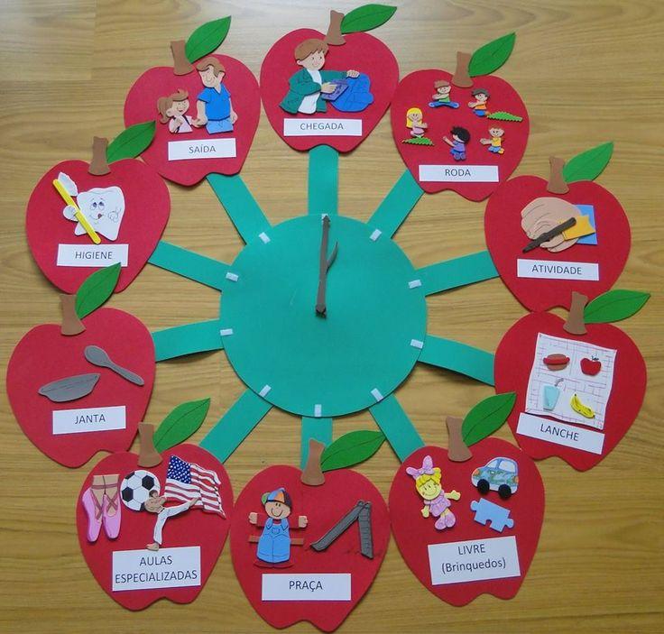 Nosso Espaço Educando: Sugestões para Painel de rotina em EVA na sala de educação infantil
