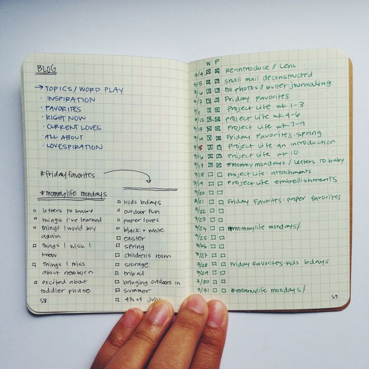 Track and plan Project life with a Bullet Journal