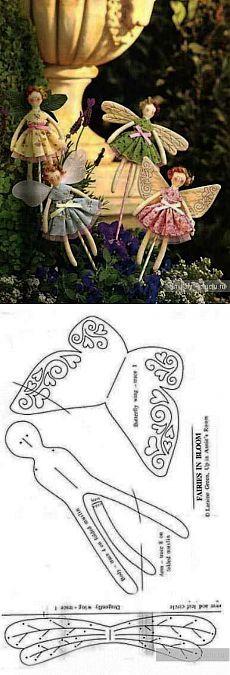 Malá panenka-vlnovky, ozdobit květináče / Tilda, plyšové hračky vlastníma rukama, vzor / KluKlu.  Řemesla - Lemování, quilling, cross-steh, pletení