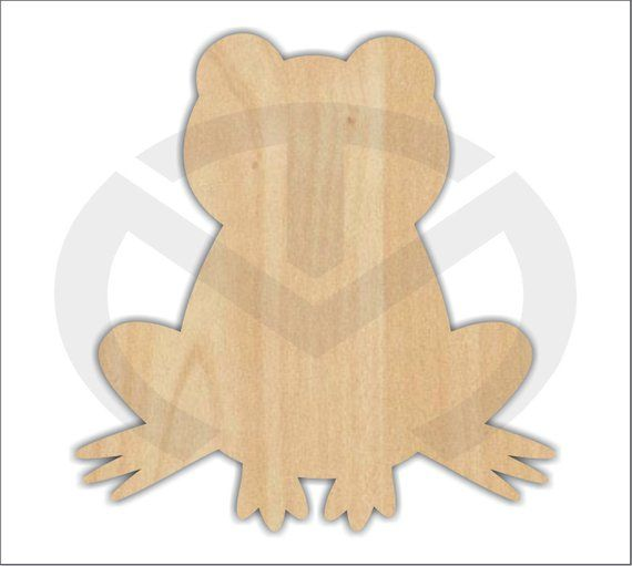 Ready to Paint Wreath Accent Door Art Unfinished Wood Frog Shape Laser Cutout