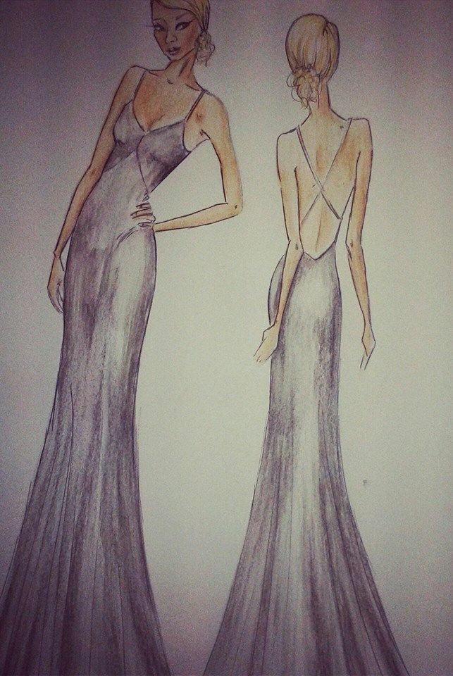 Illustration by Molteno Creations #moltenocreations #fashion #clothes #gown #figurehugging #sleek #elegant #sexy #backless #capetown #southafrica #drawing #behindthescenes