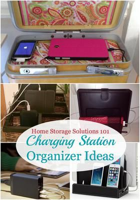 Charging Station Organizer Ideas For Phones U0026 Other Electronics
