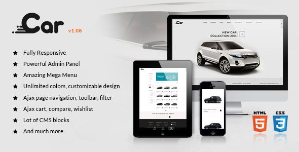MT BeCar responsive magento theme
